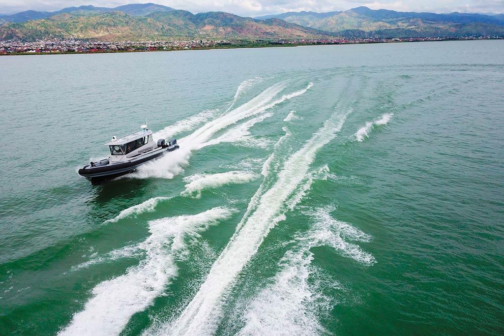 Des bateaux pour les professionnels avec une protection balistique de très haut niveau.