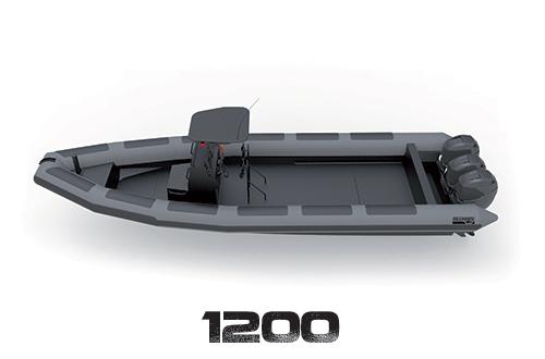 Les embarcations sont dotées de flotteurs de grands diamètres, permettant d'acquérir une stabilité exemplaire en mer formée.