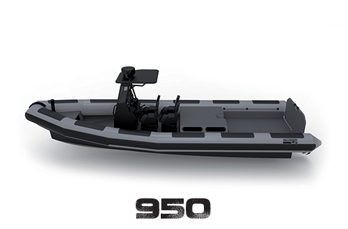 La gamme RAFALE est conçue pour les professionnels et les militaires dans un cadre d'utilisation intensive grâce à son étrave perce vague