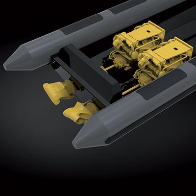 Les semi-rigides Sillinger peuvent être équipés de motorisations hors-bord, inboard et inboard jet.