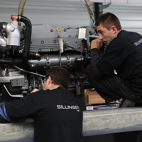 Les équipes de Sillinger imagine des bateaux innovants et performants.